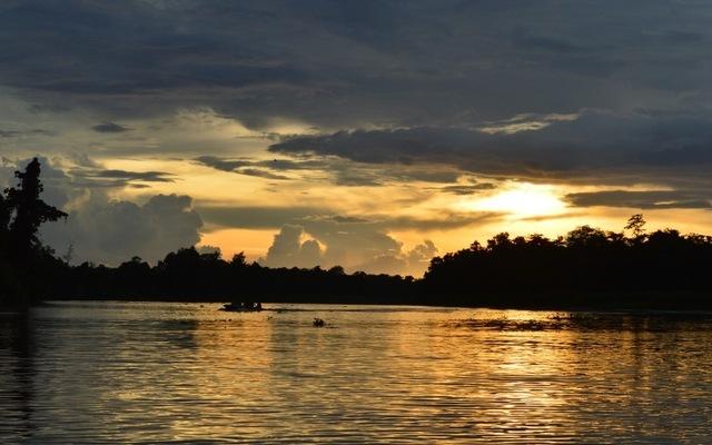 Kinabatangan - západ slnka