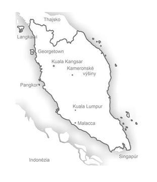 Malajzia map