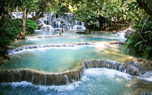 Kuang Si vodopády